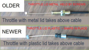Throttle cable type for oil injection block off kits.